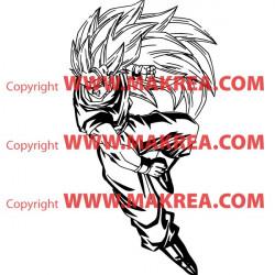 Sticker Dragon Ball - Sangoku