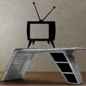 Sticker télévision rétro