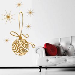 Noël - Boule de Noël et étoiles