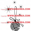 Sticker Noël - Boule de Noël et étoiles