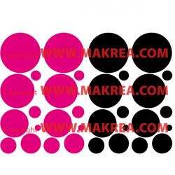 Sticker lot 32 Bulles 2 couleurs au choix
