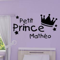 Sticker Couronne Petit Prince + prénom personnalisable