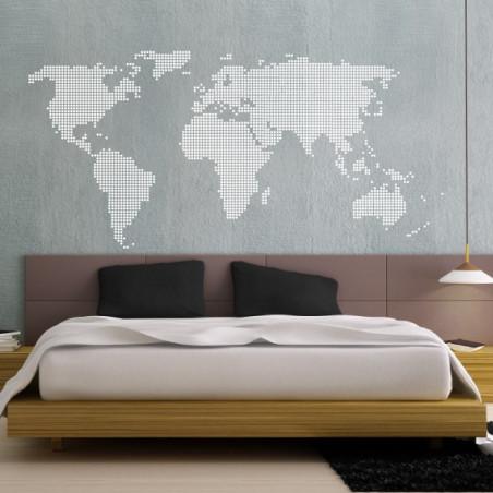 Carte du Monde - Pixel ROND