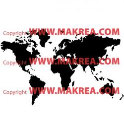 Sticker Carte du Monde - Mappemonde - Plasnisphère