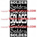 Sticker vitrine Bandeau Soldes