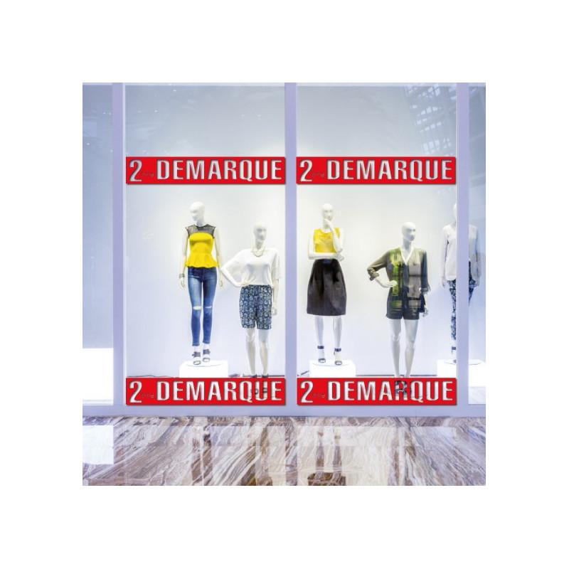 Sticker vitrine Bandeau 2ème Démarque