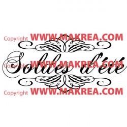 Sticker vitrine Soldes d'été Ornements
