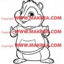 Sticker Alvin et les Chipmunks - Théodore