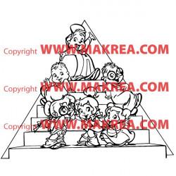 Sticker Alvin et les Chipmunks - Escaliers