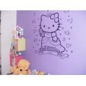 Sticker Hello Kitty Princesse et Ruban