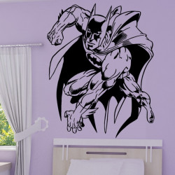 Sticker mural Batman attaque