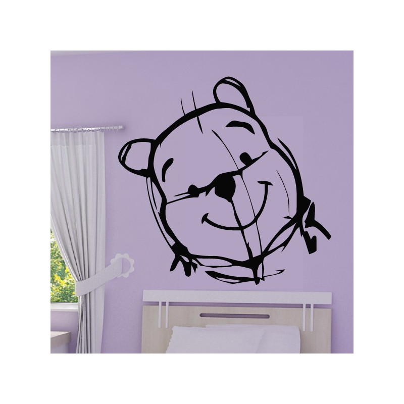 Sticker Winnie l'ourson Esquisse Crayon - Tête