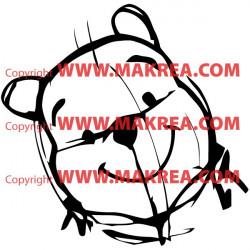 Sticker Winnie l'ourson Esquisse Crayon - Tête