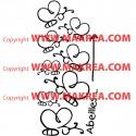 Sticker Winnie - Lot 8 papillons