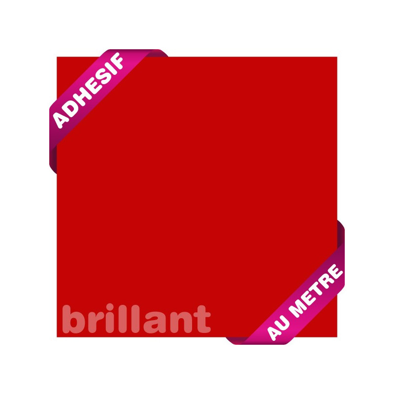 Adhésif au mètre / Rouge Brillant