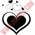Sticker Gros Coeur + Petits coeurs