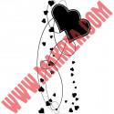 Sticker Envolée de Coeurs