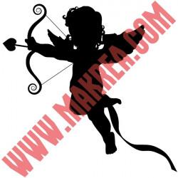 Sticker vitrine Cupidon Flèche Coeur