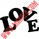 Sticker Lettrage LOVE Design
