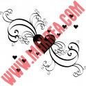 Sticker Coeurs et Ornements - Pluie de Coeurs