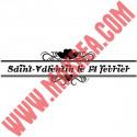 Sticker Vitrine Bandeau Coeurs Lettrage Saint Valentin