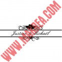 Sticker Bandeau Coeurs + Prénoms Personnalisés