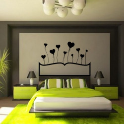 Sticker Tête de lit Ballons coeur
