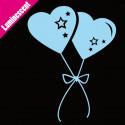Sticker Luminescent Ballons Coeurs Accrochés