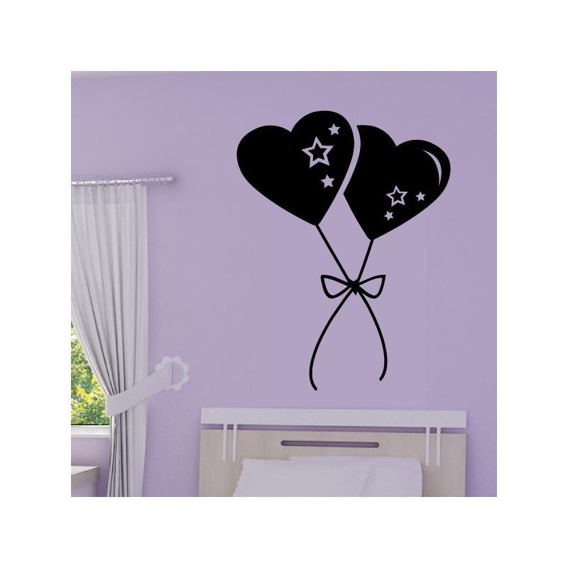 Sticker Ballons Coeurs Accrochés