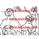 Sticker Livre de la Jungle - Bagheera et Baloo