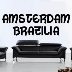 Stickers Texte Amsterdam - Brazilia