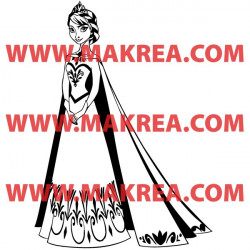 Sticker La Reine des Neiges - Elsa Robe