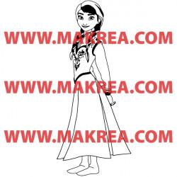 Sticker La Reine des Neiges - Anna Robe