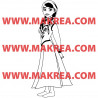 Sticker La Reine des Neiges - Anna Robe