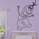 Sticker La Reine des Neiges - Olaf Bonhomme de Neige Heureux