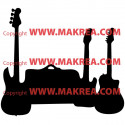 Sticker 3 Guitares et valise