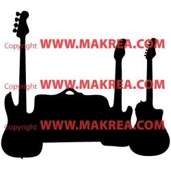 3 Guitares et valise