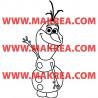 Sticker La Reine des Neiges - Olaf Bonhomme de Neige fait Coucou