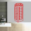 Sticker Géant Cabine Téléphonique Londres de côté