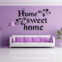 Sticker Citation Home Sweet Home Floral