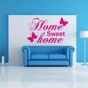 Sticker Citation Home Sweet Home Papillons