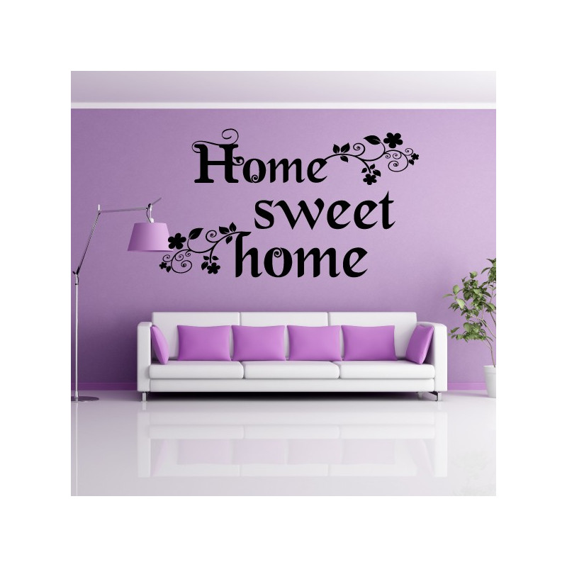 Sticker Citation Home Sweet Home Floral 2