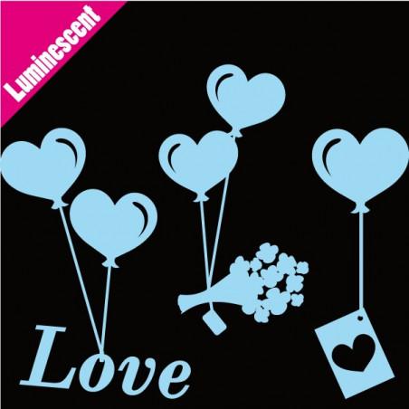 Luminescent Ballons Coeurs Suspendus Messager