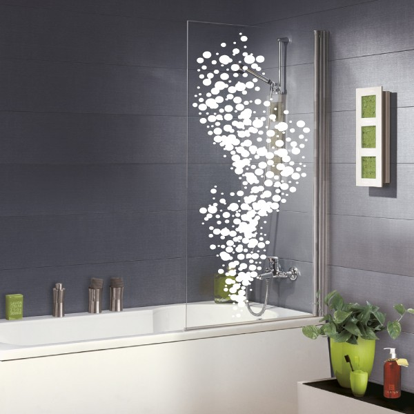 Beautiful frise vinyle adhesive pour salle debain photos for Stickers carrelage salle de bain