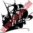 Sticker Pirate - Bateau Voilier de Pirate