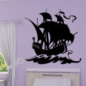 Sticker Pirate - Bateau Voilier de Pirate 2