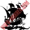 Sticker Pirate - Bateau Voilier de Pirate 2
