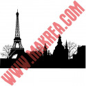Sticker Toits de Paris et Tour Eiffel