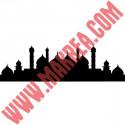 Sticker Mosquée Islamique Silhouette