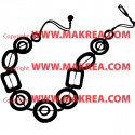 Sticker collier feminin